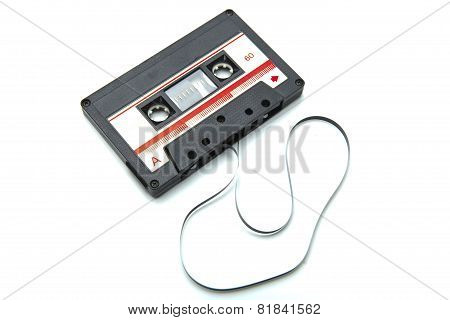 Cassette Tape Isolated On White With Clipping Path