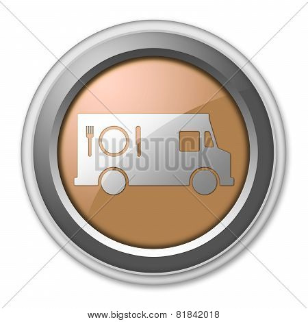Icon, Button, Pictogram Food Truck
