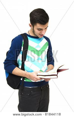 Highschool Teenager Reading