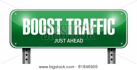 Boost Traffic Road Sign Illustration Design