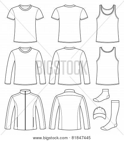 Singlet, T-shirt, Long-sleeved T-shirt, Jacket, Socks And Cap Template