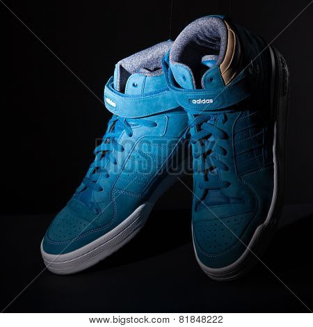 blue trainers