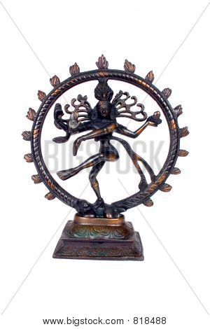 Indian Lord of the Dance 'Natraj'with Clipping path