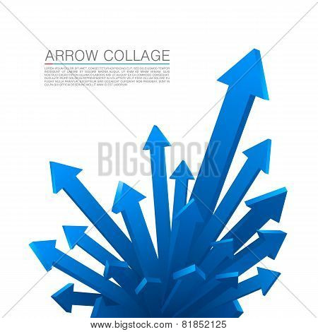 Arrow explosion blue