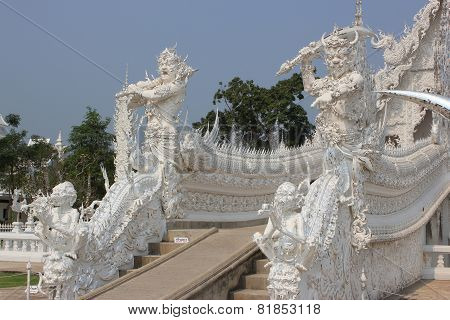 Sculpture At Wat Rong Khun Or White Temple