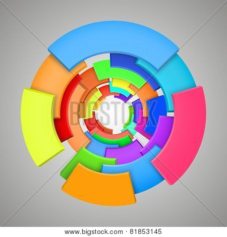 Abstract colorful 3d rainbow, logo design