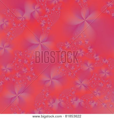 Violet And Pink Abstract Flowers