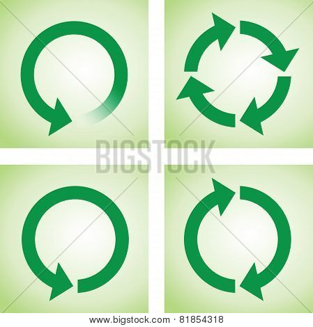 recycle or reload page green icons