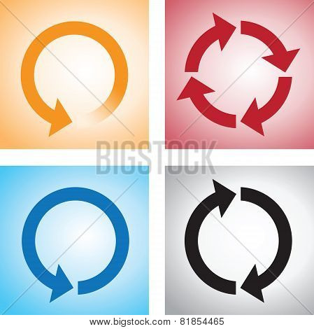 recycle or reload page icons