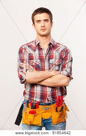 Confident Handyman.