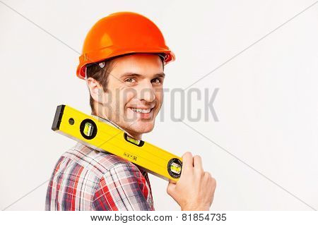 Cheerful Construction Worker.