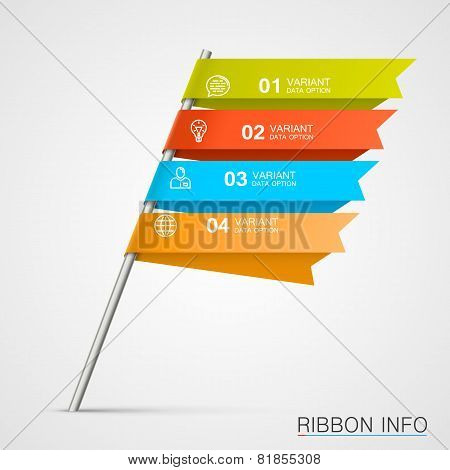 Signpost infographic elements.