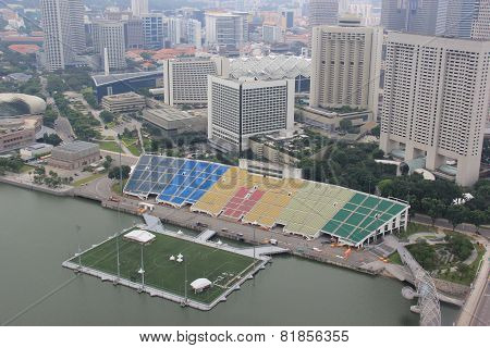 Skyview Of The Float At Marina Bay