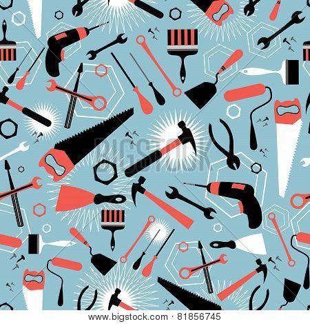Pattern Of Tools For Repairing