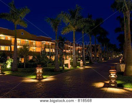 mexico resort hotel night