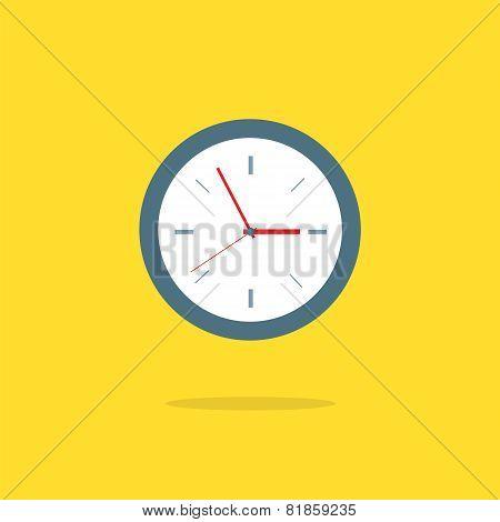 Flat Design Analog Clock.