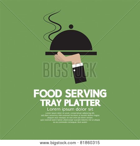 Food Serving Tray Platter.