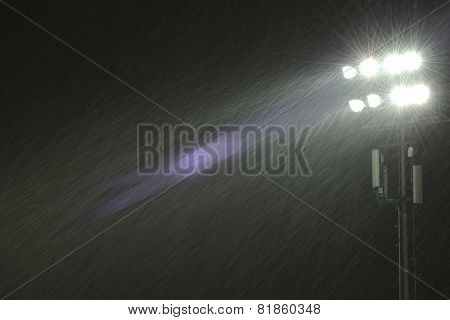 Image Of The Stadium Spotlights.