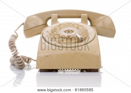 Old And Dirty Vintage Telephone