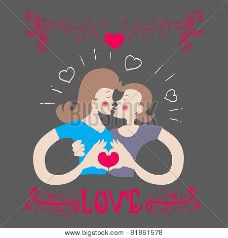 Romantic Couple In Love Make