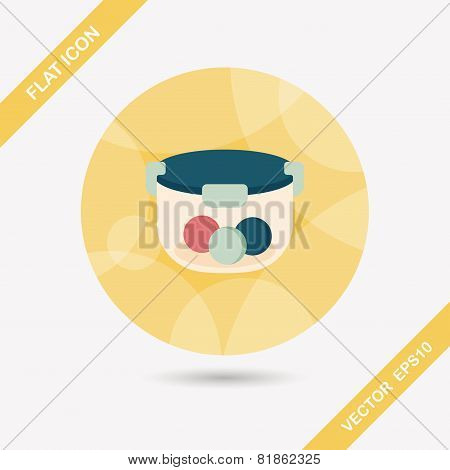 Kitchenware Preserving Container Flat Icon With Long Shadow,eps10