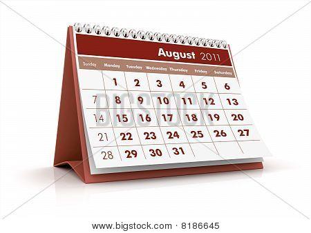2011 calendar, August