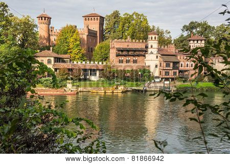 The castle along the Po River, Turin