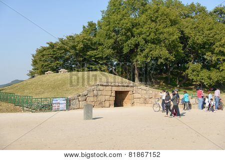 Gyeongju, Korea - October 18, 2014: Seokbinggo In Gyeongju