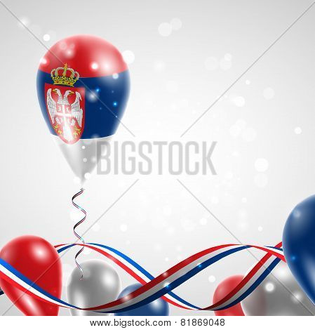 Flag of Serbia on balloon