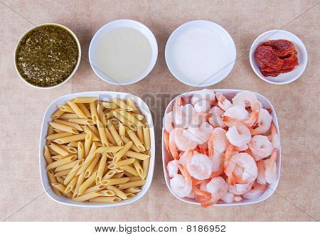 Pesto Shrimp Ingredients