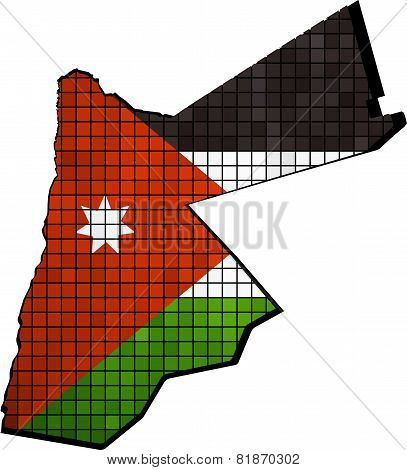 Jordan map with flag inside