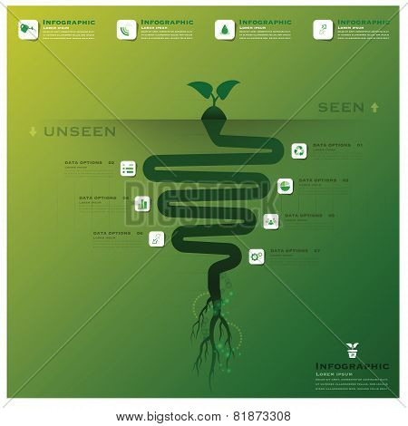 Tree And Root Infographic Design Template