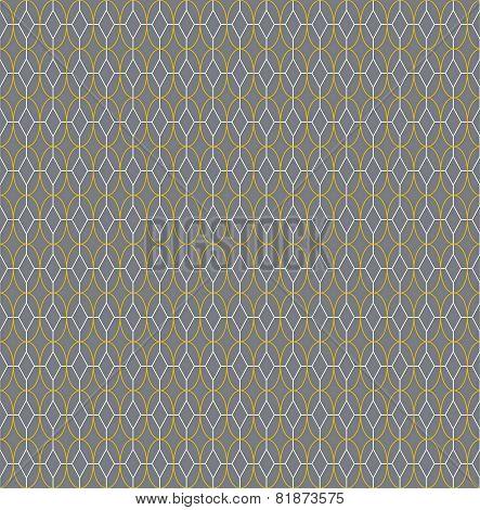 Seamless Background: Geometric Symmetrical Pattern