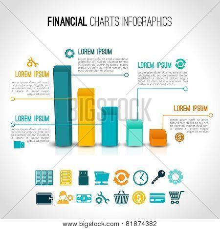 Finance charts infographic