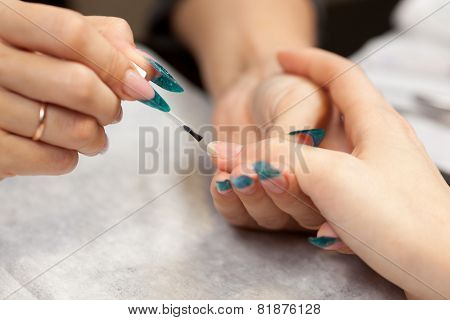 Woman At Manicure