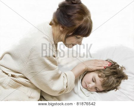 Mother With Sleeping Child