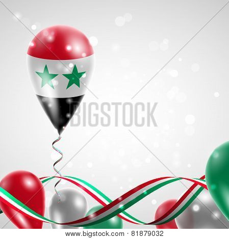 Flag of Syria on balloon