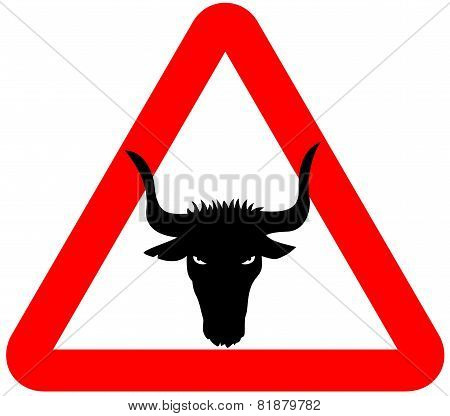 attention bull sign