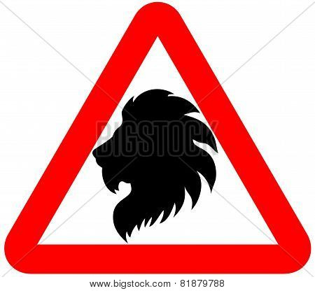 attention lion sign