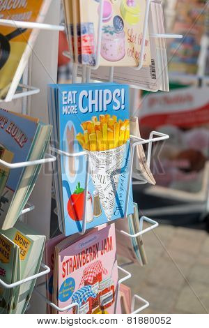 Eat More Chips Postcards In A Rack