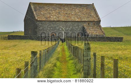 Antique Scottish Church In Lewis Isle. St. Moluag. Scotland