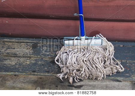 Mop Cleaning Gadgets On Terrace