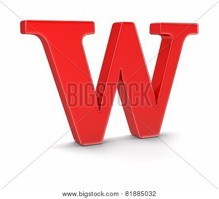Letter W (clipping path included)
