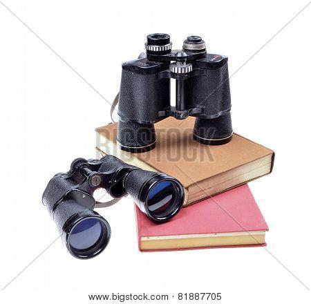 Vintage old binoculars