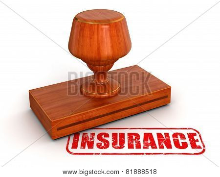 Rubber Stamp Insurance  (clipping path included)