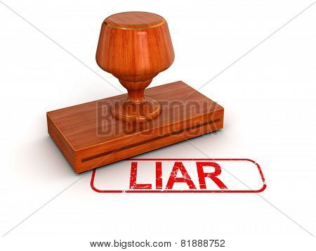 Rubber Stamp Liar  (clipping path included)