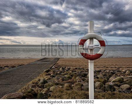 Lifesaver On A Beach