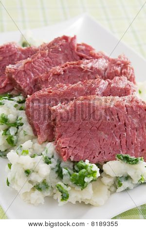 Corned Beef with Colcannon