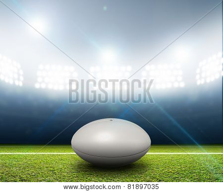 Rugby Stadium And Ball