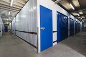 pic of roller door  - Warehouse with roller doors and private storage sheds - JPG